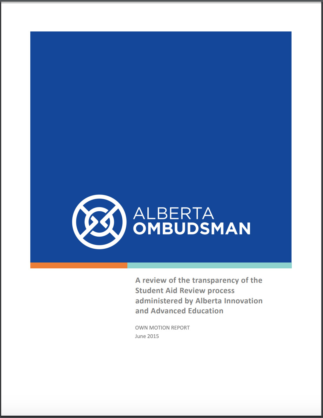 Ombudsman Transparency Student Aid Review